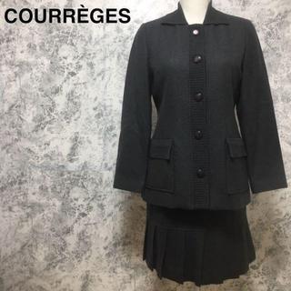 クレージュ(Courreges)のクレージュ プリーツスカート ジャケット セットアップスーツ M相当(スーツ)
