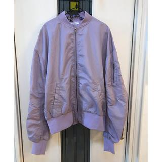 ウィゴー(WEGO)のパープル薄紫 MA-1 ブルゾン ジャンバー(ブルゾン)