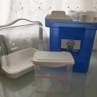 モリナガニュウギョウ(森永乳業)のベビー ミルク関係 容器セット(哺乳ビン用消毒/衛生ケース)