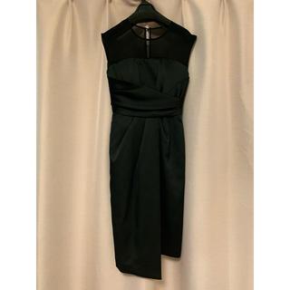 ラグナムーン(LagunaMoon)のLAGUNAMOON ドレス ブラック 結婚式 S(ミディアムドレス)
