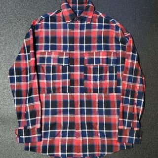 フィアオブゴッド(FEAR OF GOD)のFEAR OF GOD LONG SLEEVE SHIRT チェックシャツ XS(シャツ)