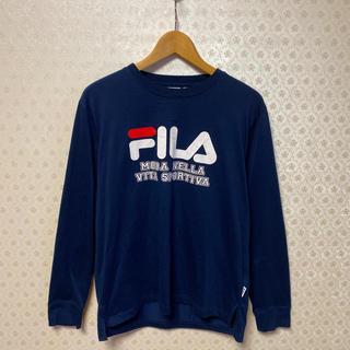フィラ(FILA)の♥️良品♥️フィラ♥️レディース♥️長袖Tシャツ♥️ネイビー(Tシャツ(長袖/七分))