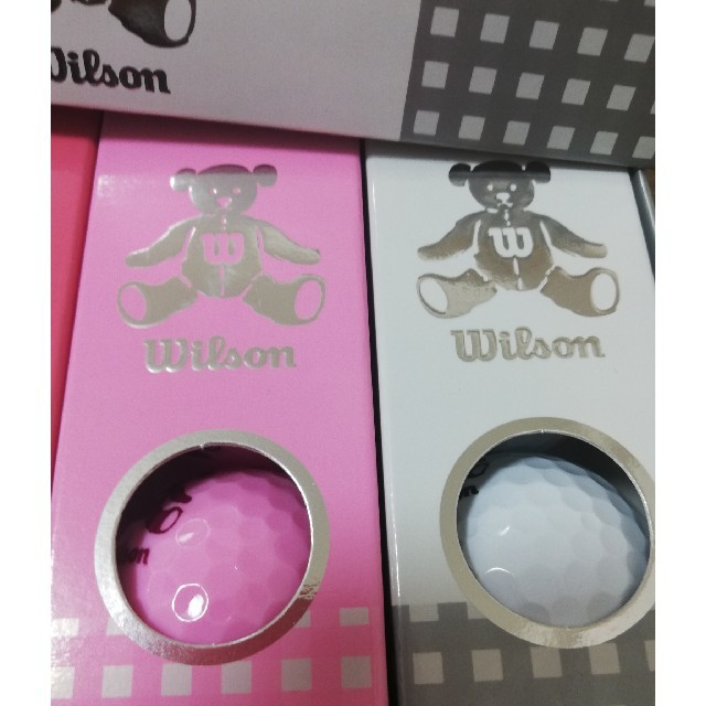wilson(ウィルソン)のlily様専用 新品未使用ウィルソンベア ゴルフボール ホワイトピンクラベンダー スポーツ/アウトドアのゴルフ(その他)の商品写真