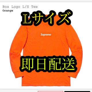 シュプリーム(Supreme)のsupreme Box Logo L/S Tee ORANGE Lサイズ(Tシャツ/カットソー(七分/長袖))