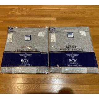 ボーイロンドン(Boy London)の【新品】Vネック Tシャツ 2枚組 綿100% M メンズ(Tシャツ/カットソー(半袖/袖なし))