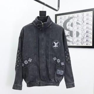ルイヴィトン(LOUIS VUITTON)の雪花グレーのデニムジャケット(Gジャン/デニムジャケット)
