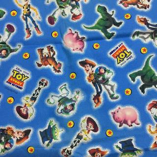トイストーリー(トイ・ストーリー)のトイストーリー ディズニー オックス はぎれ 80cm(生地/糸)