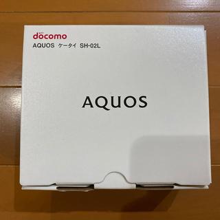 エヌティティドコモ(NTTdocomo)のdocomo AQUOS ケータイ SH-02L ゴールド(携帯電話本体)