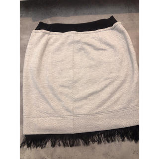 ディーゼル(DIESEL)のフリンジニットスカート(ひざ丈スカート)