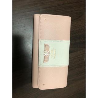 リズリサ(LIZ LISA)のプリムヴェールリズリサ アネラ リボンブローチ付バイカラー長財布 (財布)