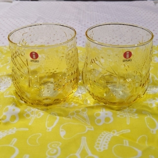 イッタラ(iittala)の新品未使用 イッタラ FRUTTA フルッタ グラス スコープ 完売 イエロー(グラス/カップ)