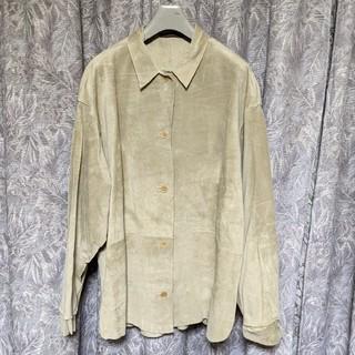 CENTURY FOXオーバーサイズスエードレザーシャツジャケット(ブルゾン)