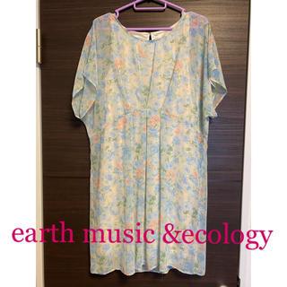 アースミュージックアンドエコロジー(earth music & ecology)の花柄 ワンピース アースミュージック&エコロジー(ひざ丈ワンピース)
