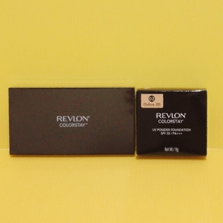 REVLON - レブロン カラーステイ UV パウダーファンデーション 02 専用ケース セット