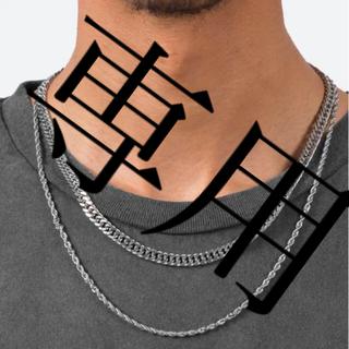 フィアオブゴッド(FEAR OF GOD)のmnml double chain ミニマル ネックレス ダブルチェーン(ネックレス)