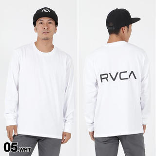 ルーカ(RVCA)のRVCAルーカ バックロゴロンT   Mサイズ ホワイト(Tシャツ/カットソー(七分/長袖))