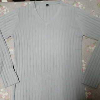 ムジルシリョウヒン(MUJI (無印良品))の無印良品 コットンメリノウールVネックセーター 未使用品!!(ニット/セーター)