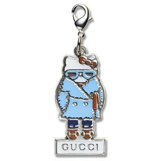 グッチ(Gucci)のGUCCI × キティちゃん コラボ チャーム(キーホルダー)