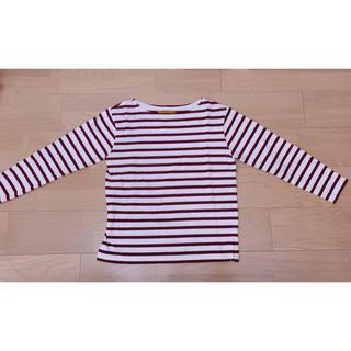 アーバンリサーチロッソ(URBAN RESEARCH ROSSO)のROSSO ボーダーロングTシャツ ボルドー(Tシャツ(長袖/七分))
