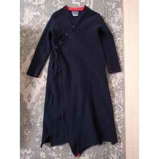 BLUE BLUE ロングコート ハリウッドランチマーケット ネイビー 紺