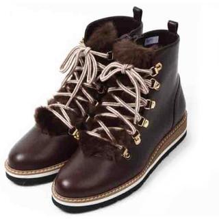バークレー(BARCLAY)のファー トレッキングブーツ ショートブーツ BARCLAY 24.5cm(ブーツ)