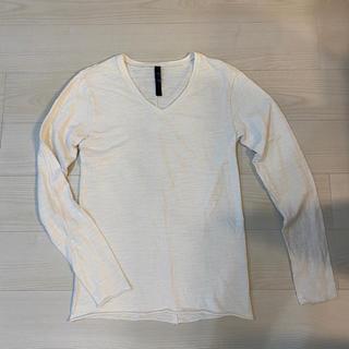 ダブルジェーケー(wjk)のWJK ロンT ロンティー ホワイト Vネック(Tシャツ/カットソー(七分/長袖))