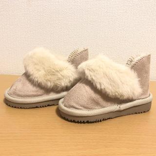 プティマイン(petit main)の13cm ファー ブーツ(ブーツ)
