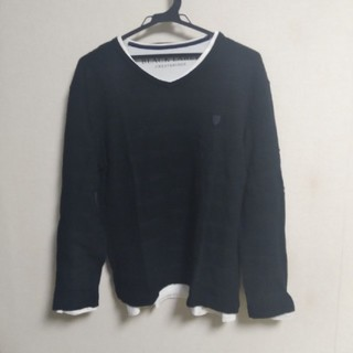 ブラックレーベルクレストブリッジ(BLACK LABEL CRESTBRIDGE)のBLACK LABEL Vネック長袖カットソー+Vネック長袖Tシャツ(Tシャツ/カットソー(七分/長袖))