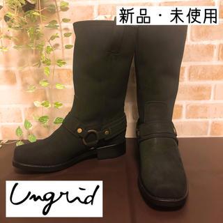 アングリッド(Ungrid)の[新品✨] アングリッド Ungrid 牛革 スウェード ロングブーツ(ブーツ)