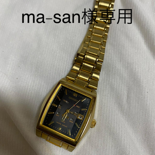 オリエント(ORIENT)のオリエント 腕時計 ゴールド ブラック(腕時計)