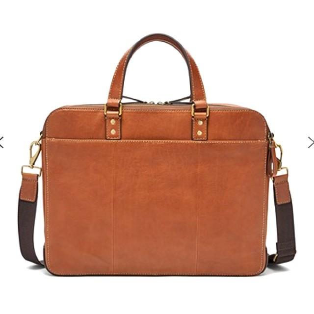 FOSSIL(フォッシル)の【新品未使用】FOSSIL フォッシル Wジップ ビジネスバッグ ブラウン メンズのバッグ(ビジネスバッグ)の商品写真
