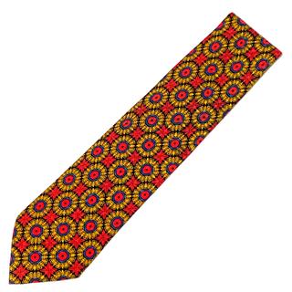 バーニーズニューヨーク(BARNEYS NEW YORK)の【美品】Brioni ネクタイ イタリア製 パターン柄 RED(ネクタイ)