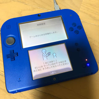 ニンテンドー2DS(ニンテンドー2DS)の任天堂2DSブルー★中古(携帯用ゲーム機本体)