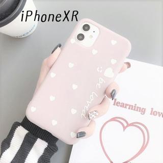 大人気!iPhoneXR ハート カバー ケース ベージュグレー(iPhoneケース)