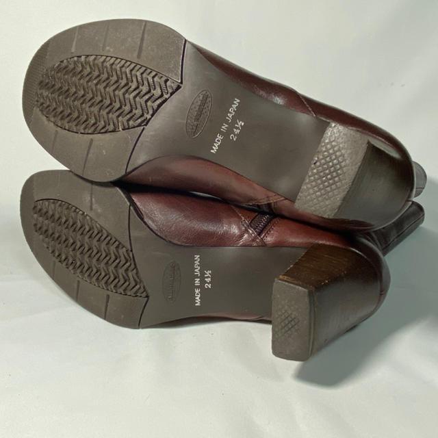 REGAL(リーガル)のRegal Tailored ブーツ ブラウンレザー 24.5cm レディースの靴/シューズ(ブーツ)の商品写真