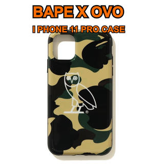 アベイシングエイプ(A BATHING APE)のBAPE X OVO 1ST CAMO I PHONE 11 PRO CASE(iPhoneケース)