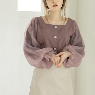 グレイル(GRL)のグレイル チュールスリーブブラウストップス(Tシャツ(長袖/七分))