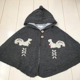 110cm 女の子ニットポンチョ(ジャケット/上着)