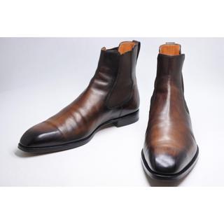ベルルッティ(Berluti)のベルルッティ クラシック サイドゴア ブーツ 10 メンズ ブラウン レザー(ブーツ)