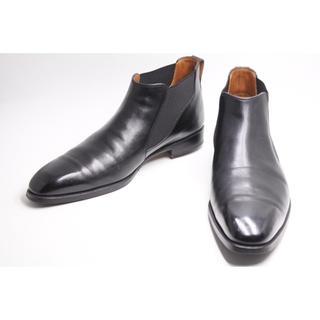 ベルルッティ(Berluti)のベルルッティ クラシック サイドゴア ブーツ 10 メンズ ブラック ブラウン(ブーツ)