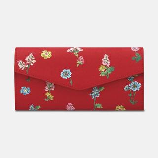 キャスキッドソン(Cath Kidston)の花柄 キャスキッドソン 長財布 トマトレッド トワイライトスプリングフローラル(財布)