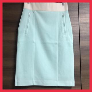 【新品】【最終値下げ】 膝丈スカート ボルニー フリーサイズ ライトグリーン