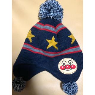 バンダイ(BANDAI)のアンパンマンニット帽☆美品48〜50cm(帽子)