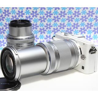 オリンパス(OLYMPUS)の極美品❤️オリンパス E-PL6 ダブルズームセット❤️ド迫力Wレンズ❤️(ミラーレス一眼)