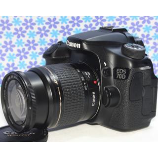 キヤノン(Canon)の極美品★Canon EOS 70D★Wi-Fi機能搭載★高画質★動画撮影★(デジタル一眼)