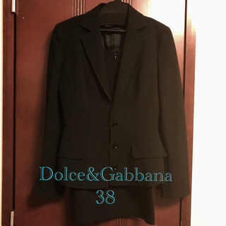 ドルチェアンドガッバーナ(DOLCE&GABBANA)のドルチェ&ガッパーナのブラックスーツ(スーツ)