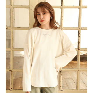 one after another NICE CLAUP - ワッフルロゴロングTシャツ