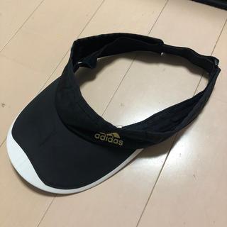 アディダス(adidas)のアディダス  サンバイザー サイズ57-59センチ(サンバイザー)