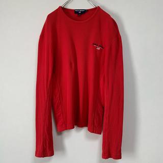 ラルフローレン(Ralph Lauren)の古着 90s Ralph Lauren POLO SPORT サーマルTシャツ赤(スウェット)