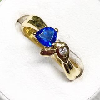 大きめコバルトブルー☆アウイナイト&ダイヤ K18 リング(リング(指輪))